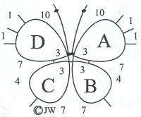 Free Tatting Pattern - Simple Butterfly