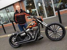 Graham's Harley Davidson Wide Glide with Weeli Seat & Voodoo Fender   Rocket Bobs