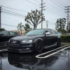 Annnnndddd it is raining again.wheels look Gloss Black when there is no --------------------------------------------- - Audi S4, Audi R8 V10, Audi 2017, Bmw, Audi Rs6 Avant, Silvia S13, Black Audi, Matte Black, Audi A3 Limousine