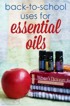 Back-to-School Uses for Essential Oils . Learn to use Lavender, Lemon, and Peppermint Essential oils to benefit your children as they return to school this year. #overstuffedlife
