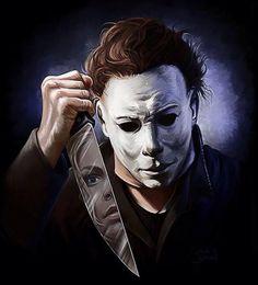 horror movie art halloween 1978 michael myers by zachary jackson