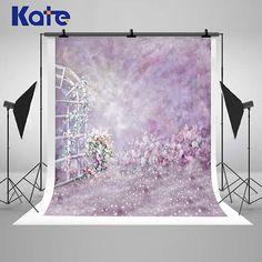 Watercolor Purple Lavender Photography Backdrops Pink Flower