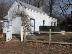 Historic Workers' Cottage and Landscape Saved in Falmouth, Virginia.  Roots House from southwest 2015