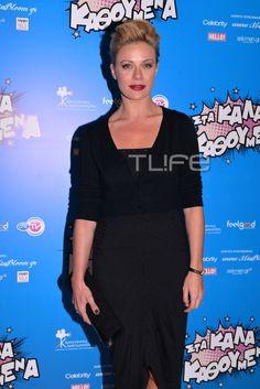 Ζέτα Μακρυπούλια Anna Marias, Celebrities, Outfits, Black, Dresses, Fashion, Vestidos, Moda, Celebs