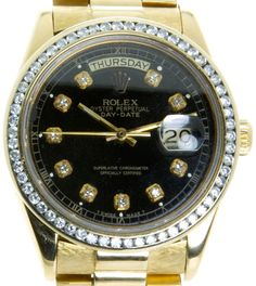 61bfce8f56e Rolex Day-Date President with Diamond Dial Bezel Armani Watches For Men