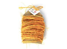 Sisal cord in mustard yellow .15 yards . string . rope . by TodoPapel, $3.50