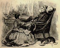 Sir John Everett Millais, Grandmother's Apology, 16 July 1859, Illustration for 'Once a Week' to accompany Alfred Lord Tennyson's poem