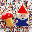 From diamonds for dessert... Gnome and mushroom cookie.  SO freaking cute!
