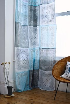 Bandana curtains form the Furniture Hacks book by Hester van Overbeek