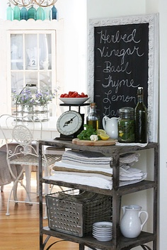 kitchen -- shelf and basket
