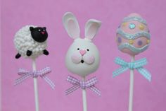 Easter Cake Pops - For all your Easter cake decorating supplies, please visit http://www.craftcompany.co.uk/occasions/easter.html