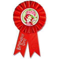 Strawberry Shortcake Birthday Girl Ribbon | Wally's Party Factory #strawberryshortcake #ribbon #birthday