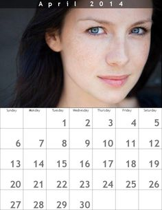 Calendar. April 2014. Feat. Caitriona Balfe :) #oldiepic #gorgeous pic.twitter.com/4hgMIkLhvI