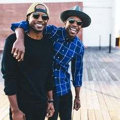 Torrence and Thurman in KREWE du optic's CONTI | Zulu 24K and L.G.D | Black 24K // 2016 sunglasses for men