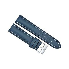 Breitling Leather Strap 22 mm  Blue *** Continue to the product at the image link.