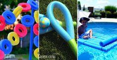 22 nouvelles idées à faire avec des nouilles de piscine! - Décorations - Trucs et Bricolages