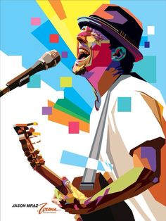 WPAP Jason Mraz by wedhahai on DeviantArt Jason Mraz, Pop Art Portraits, Portrait Art, Classic Portraits, Arte Pop, Music Is Life, My Music, The Blue Parrot, Music Tattoos