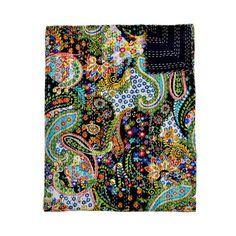 black paisley quilt