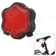 Flower Shaped 7-Mode 7-LED Red Light Bike Laser Tail Lamp w/ Mount Holder - Red   Black (2 x AAA) Price: $10.00