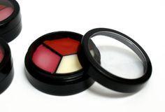 Natural Handmade DIY Tinted Tri-Color Lip Balm Recipes in Three Natural Flavors
