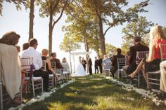 Outdoor wedding by lake