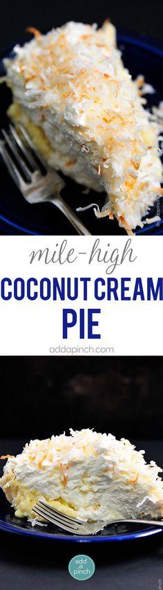 Coconut Cream Pie Recipe - Coconut Cream Pie is a classic. This creamy, dreamy pie recipe will quickly become a family favorite! // addapinch.com