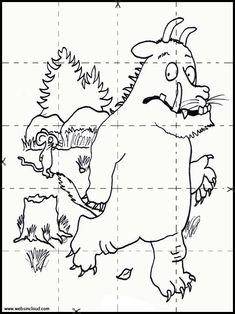 The Gruffalo Activities for kids. Printable puzzles jigsaw to cut out. Coloring pages 1 Gruffalo Activities, Toddler Fine Motor Activities, English Activities, Preschool Activities, Halloween Worksheets, Kids Math Worksheets, Halloween Activities For Kids, Math For Kids, Holiday Program