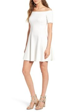 Free shipping and returns on Socialite Off the Shoulder Fit & Flare Dress at Nordstrom.com. The shoulder-baring neckline, flattering princess seams and swingy, flared silhouette of this jersey dress show off your shape—and your chic fashion sense.