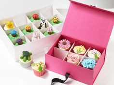 Folding Box presentation bespoke cupcake packaging okay this is really smart for getting creative with packaging!