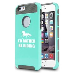 Apple iPhone 6 Shockproof Impact Hard Case Cover I'd Rather Be Riding Horse (Teal/Gray) MIP http://www.amazon.com/dp/B00W26I4SK/ref=cm_sw_r_pi_dp_YD-rwb12DBNBH