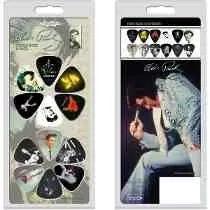 Jogo De 12 Palhetas Do Elvis Presley Para Guitarra Hot Picks