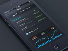 Banking #iphone #app by Anthony Aubertin, via #Behance