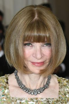 Anna Wintour Bob - Anna Wintour attended the 2017 Met Gala wearing her famous bob, which is probably the most enduring hairstyle in the fashion world!