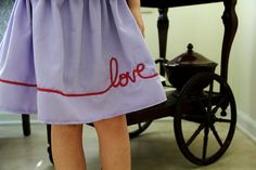 Piping sewed on a simple circle skirt = something special.