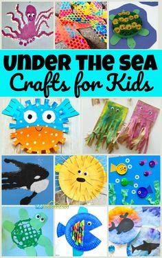 100 Amazing Zoo Craft Activities So many cute, clever, and unique under the sea crafts for kids Sea Crafts Preschool, Ocean Crafts, Fish Crafts, Craft Activities, Vocabulary Activities, Spanish Activities, Sea Animal Crafts, Animal Crafts For Kids, Toddler Crafts