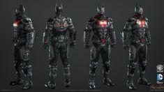 Batman: Arkham Knight Skin, Batman Beyond Game Model, Christopher Cao on ArtStation at https://www.artstation.com/artwork/a0Dlq