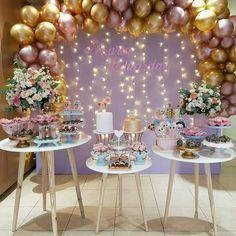 Esplêndida essa festa com o tema LOL Surprise! Balloon Centerpieces, Balloon Decorations, Birthday Party Decorations, Baby Shower Decorations, Wedding Decorations, Party Themes, 16 Birthday Cake, Birthday Drinks, 1st Birthday Girls