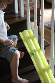 Homemade Marbled Bouncy Balls  Ramp