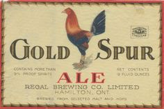 Gold Spur Ale by Thomas Fisher Rare Book Library, via Flickr