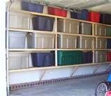 organizing your garage - Bin a palooza! Again NOT our garage.