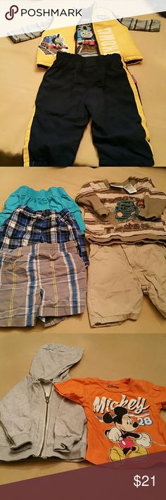 CLEARANCE!!! 10 Piece 12 Month Boy Clothing IAccept Offers.....  What you get.....  3 piece Thomas the Train Outfit  1- Gray Jacket  2- Shirts  4- Shorts  All Clothing are 12 months Other