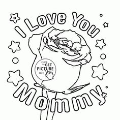 rose for mommy mothers day coloring page for kids coloring pages printables free