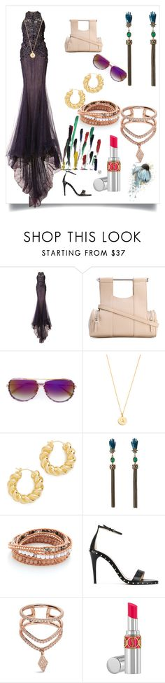 """more fashion"" by ramakumari ❤ liked on Polyvore featuring Marchesa, Corto Moltedo, Dita, Kate Spade, Soave Oro, Roberto Cavalli, Chan Luu, Valentino, Diane Kordas and Yves Saint Laurent"