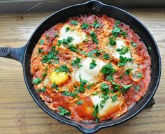 Shakshuka… eggs poached in a spicy tomato sauce - Honey, Whats Cooking
