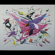 A Thousand Kisses Deep (song)  Acrílico sobre lienzo 60cm x 50cm