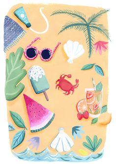 Summer by Mia Dunton Illustration