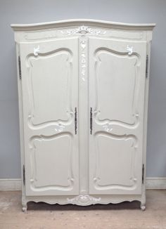 French Provencal armoire / Circa 1880s / Exceptionally decorative / Painted Furniture / Frenchfinds.co.uk