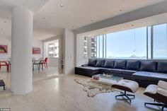 The minimalist-style 3,767 square-foot apartment that Adriana stayed in with family and friends