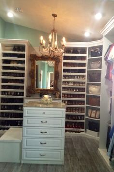 walk in closet-master bathroom , my guest bedroom turn into a walk in closet.                                                           Cust...