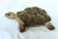 Needle felted Turtle soft sculpture by YvonnesWorkshop on Etsy